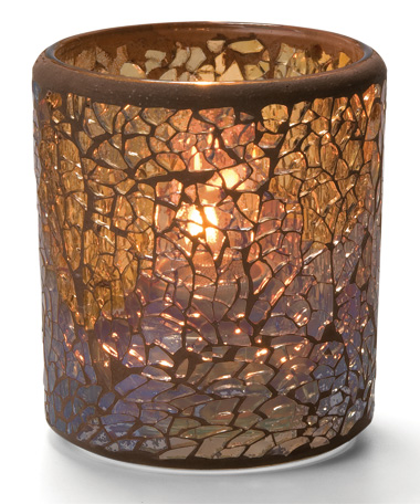 Gold Crackle™ Glass Votive Lamp