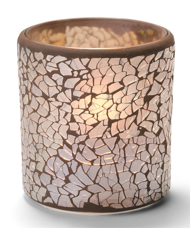Gold Frosted Crackle™ Glass Votive Lamp
