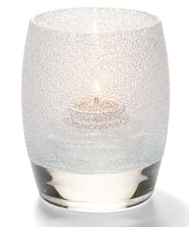 Clear Ice Contour™ Glass Votive Lamp