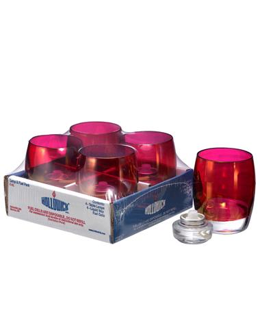 Ruby Lustre Contour™ Glass Votive Lamp Shelf Pack w/HD12- 4/Pack