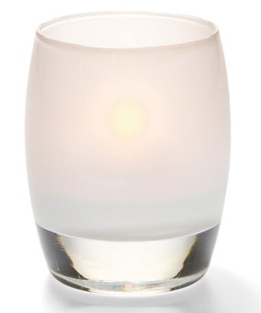 Satin Linen Contour™ Glass Votive Lamp