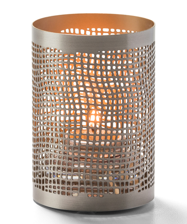 Chantilly™ (Pewter & Gold) Perforated Metal Votive Lamp