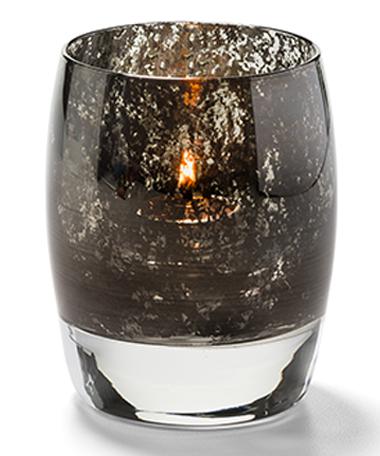 Antique Black, Contour™ Votive Glass Lamp