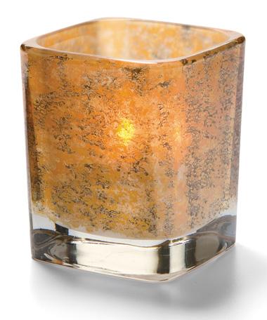 Antique Gold Tetra™ Square Votive Lamp