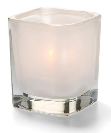 Satin Linen Tetra™ Glass Votive Lamp