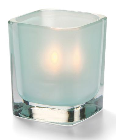 Satin Seafoam Tetra™ Glass Votive Lamp