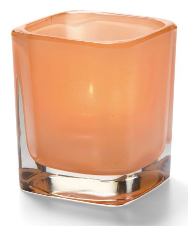 Satin Terra Cotta Tetra™ Glass Votive Lamp