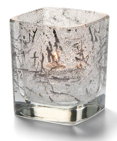 Splash Black Tetra™ Glass Votive Lamp
