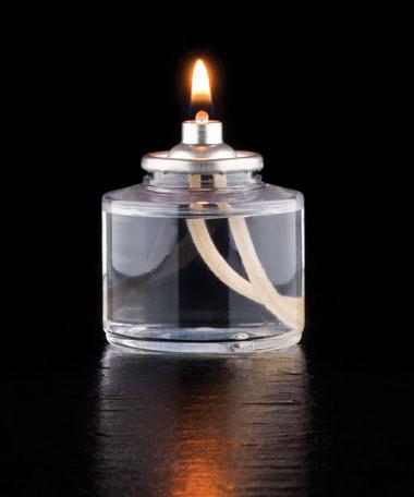 17 Hour Disposable Clear Plastic Liquid Candle - 48/CS