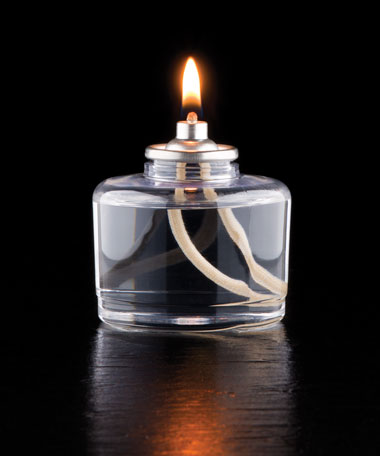 Special High Light 22 Hour Disposable Clear Plastic Liquid Candle - 24/CS