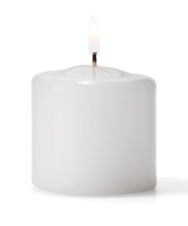 "Pillar Candles (White) 2.5""Dia. x 2.5""H. (36/Case)"